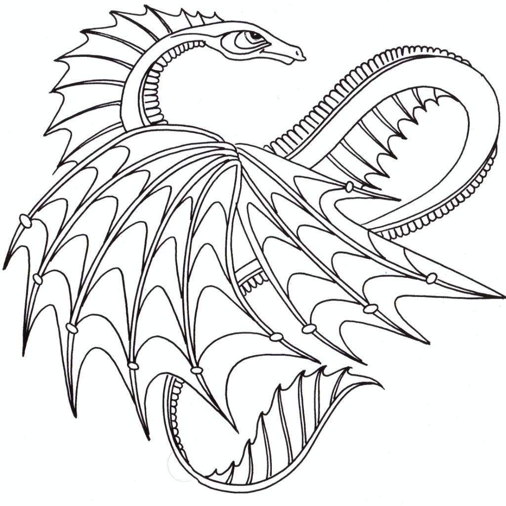 Dragon image coloring page