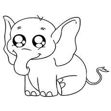 Cute Elephants Coloring Pages. cute baby elephant coloring page free ...