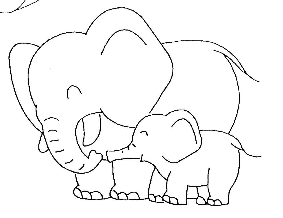 elephant coloring pages from logan – Free Printables