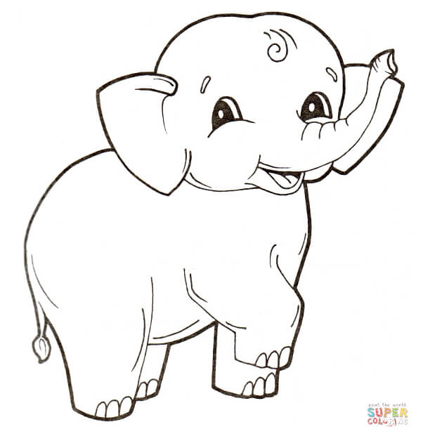 Black beauty 18 Elephant coloring pages | Free Printables