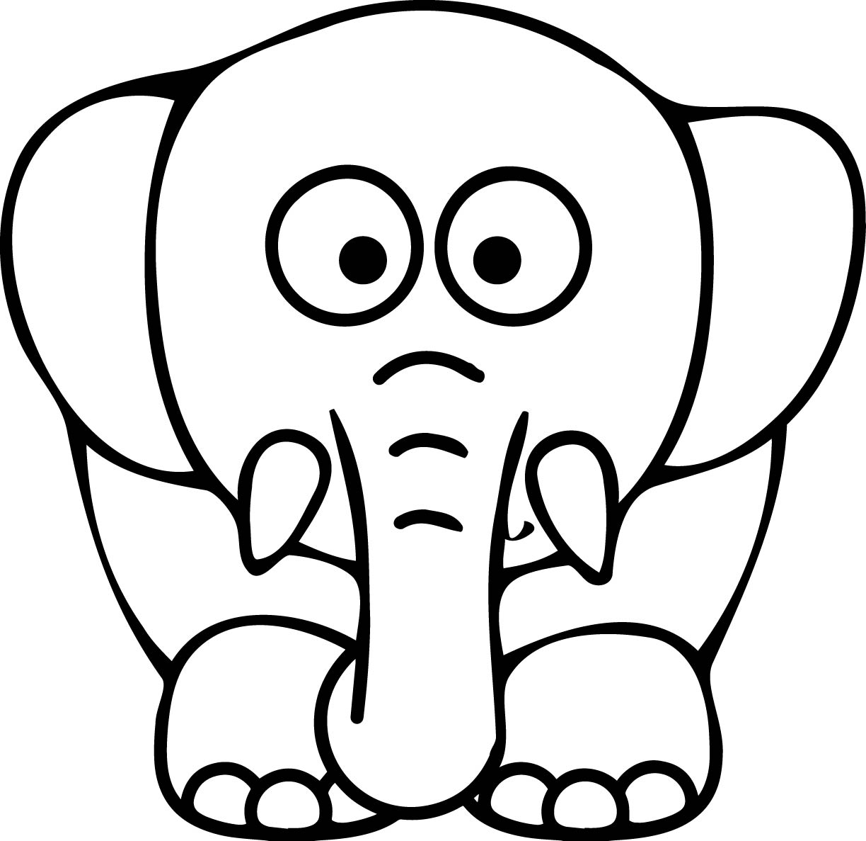 Elephant Printable Page Cartoon Image
