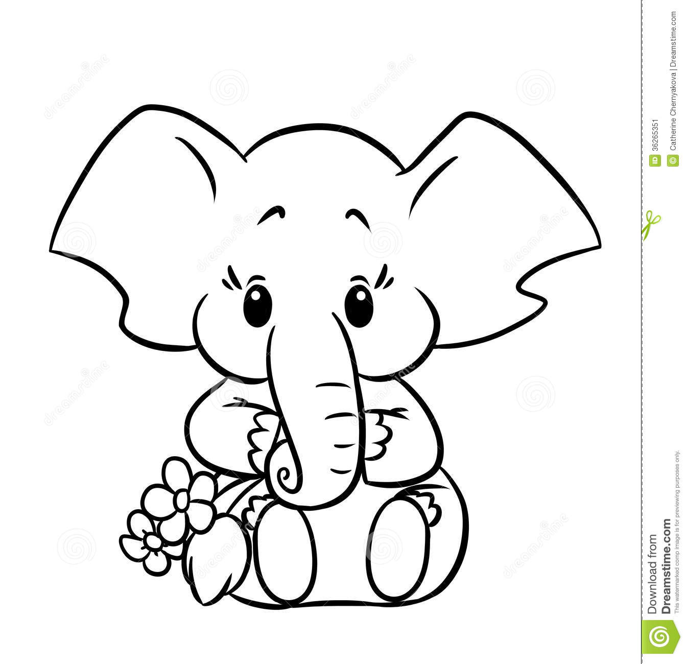 little Elephant coloring page