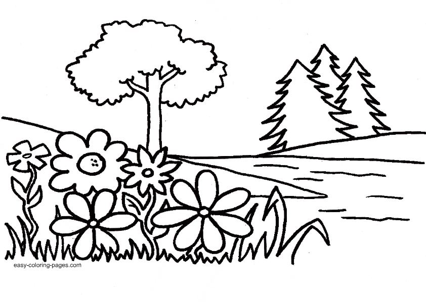 garden coloring pages malikna net