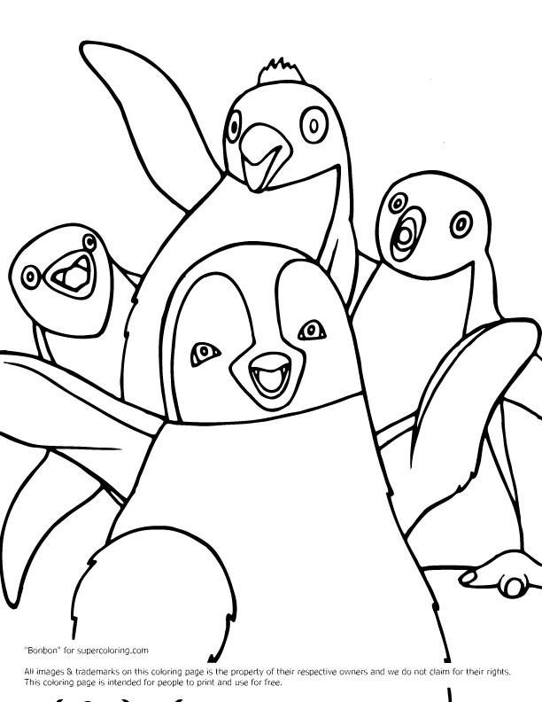 Mumble with friends coloring page