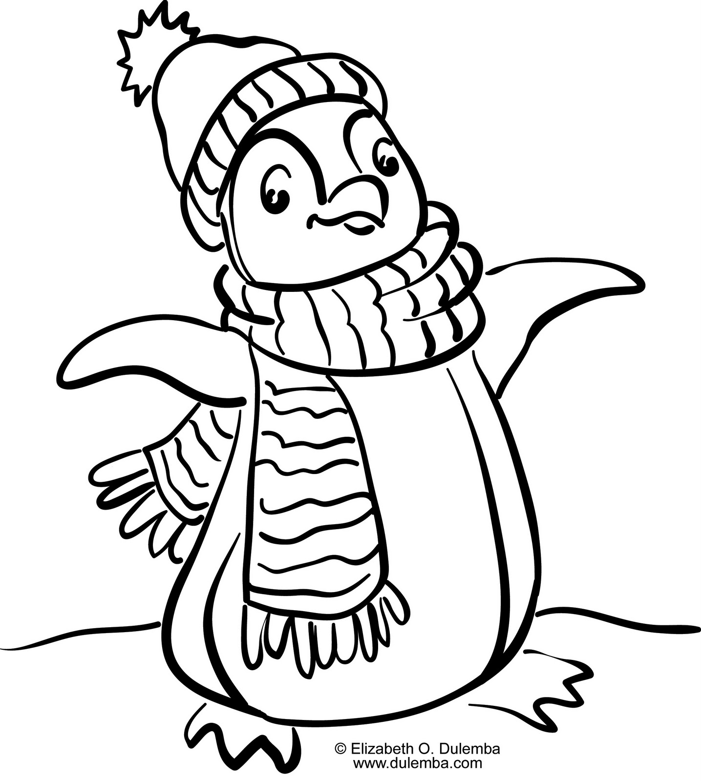 Happy Feet coloring page for kids