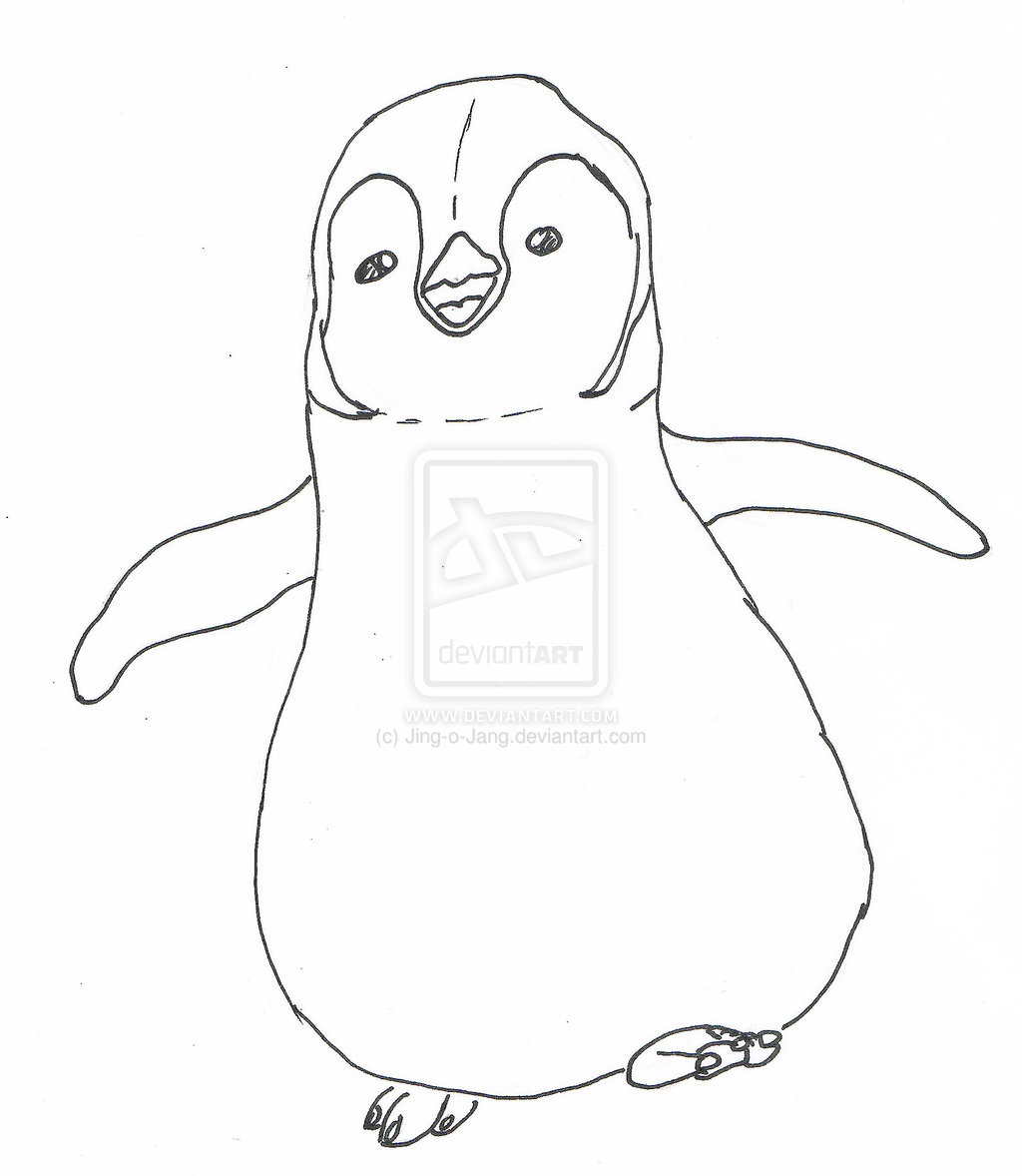 Happy Feet, Happy Feet The Toddler Mumble Coloring Pages: Happy ... | 1178x1024