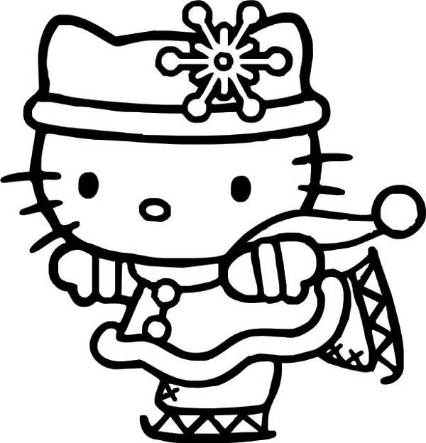 kitty in a hurry coloring page for kids