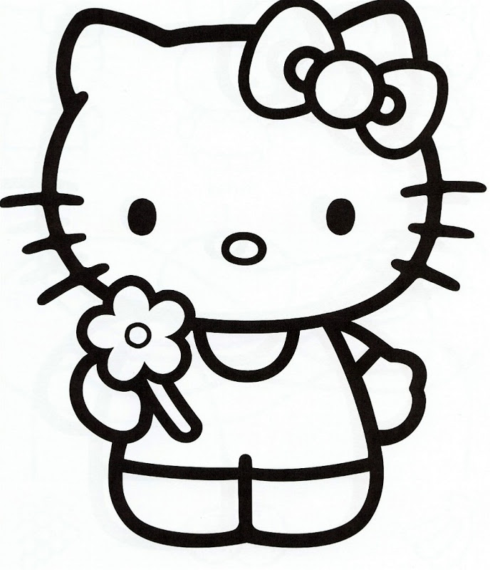 Cute Mimmy Kitty Coloring Page