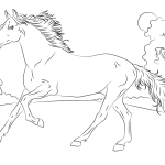 Incredible domestic animal Horse 20 Horse coloring pages