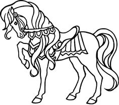 awesome horse embellishes with proper attire with coloring page horse
