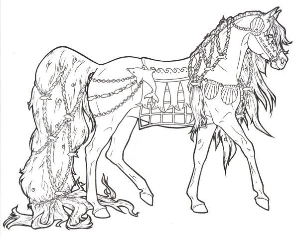 Horse printable page