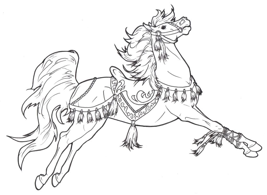 printable coloring pages of horses with horse on