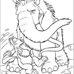 Icy voyage of a mammoth and his friends Ice age 20 Ice age coloring pages