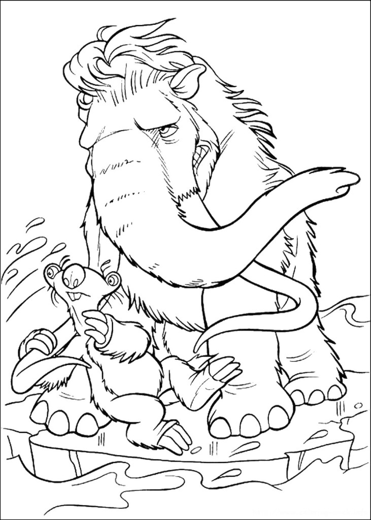 coloring pages of ice-age by jack – Free Printables