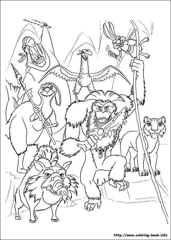 the enemy team ice age coloring page