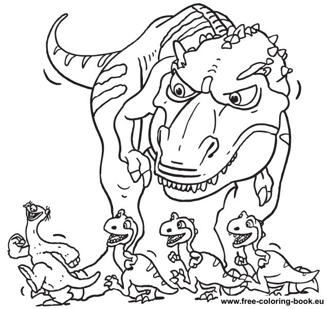 Flood with her kids coloring page
