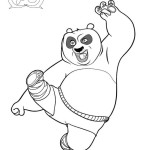 Comical adventure of Dragon Warrior Po Kung Fu Panda 20 Kung Fu Panda coloring pages