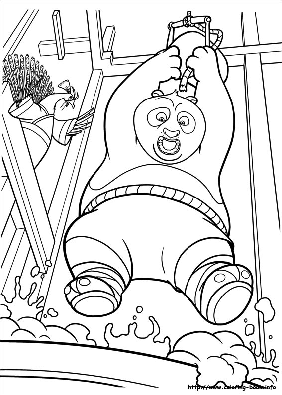 Dragon Warrior Po Coloring Page For Kids