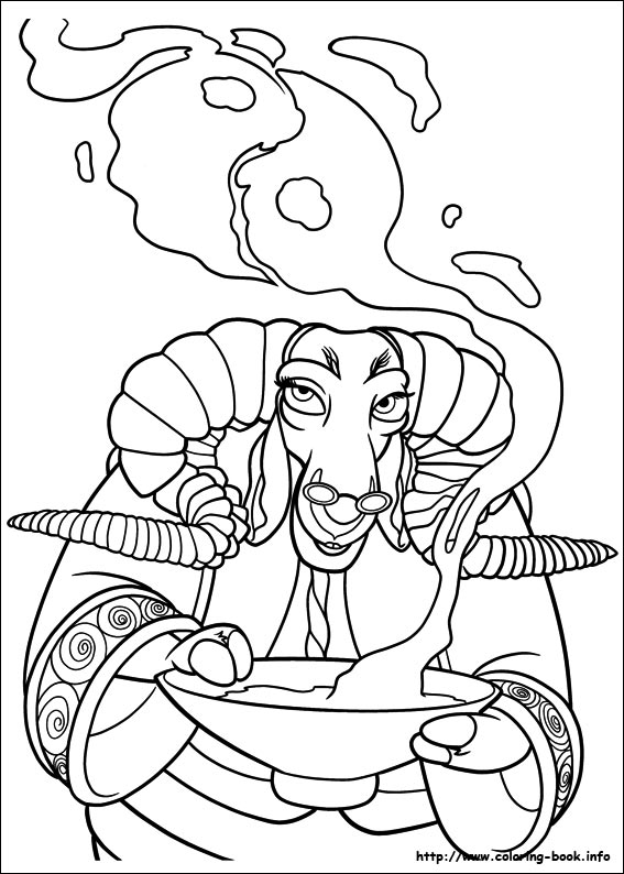 mysterious Soothsayer coloring page