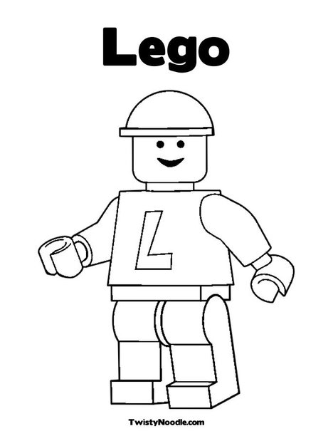 cute Lego coloring page