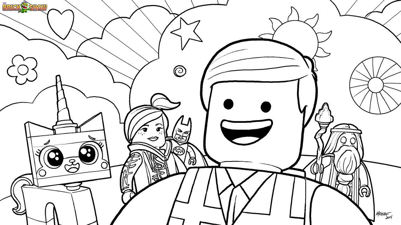 Lego coloring page for kids