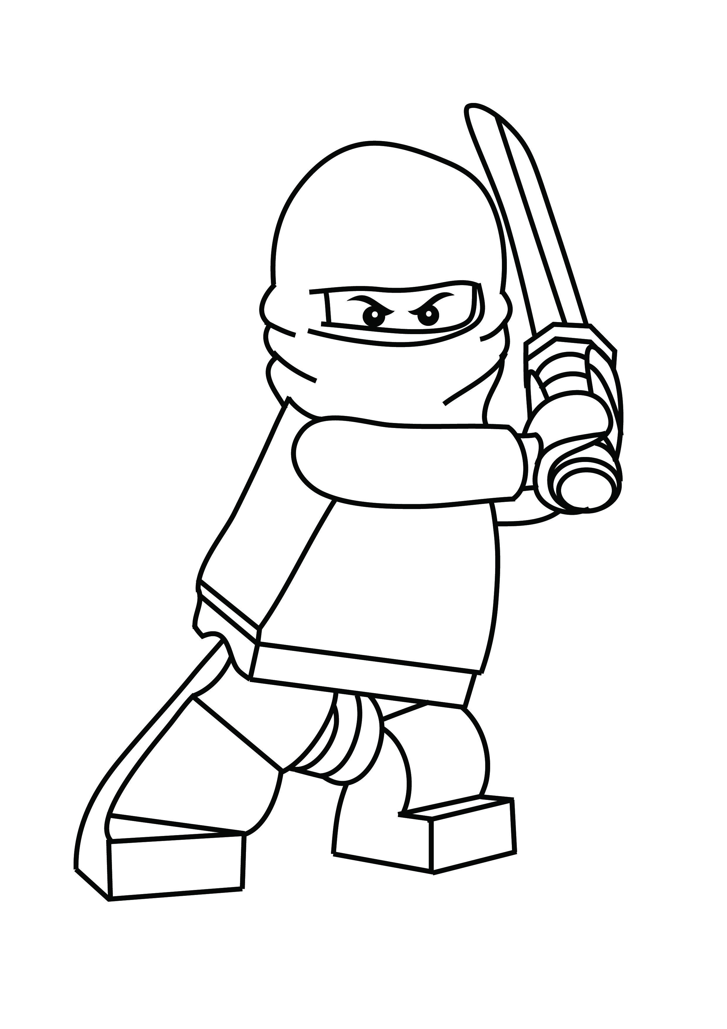 minifigure defender coloring page