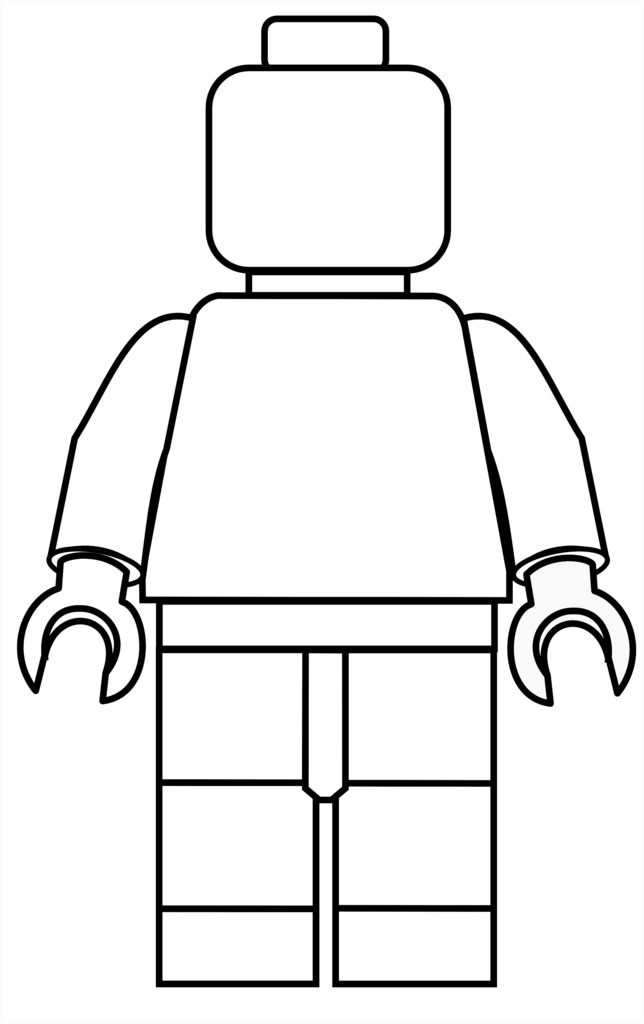 Minifigure Lego coloring page