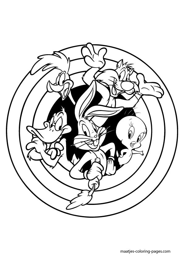 looneytoons coloring pages | Amusing story of Disney popular characters Looney Tunes 20 ...