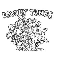looney tunes characters coloring pages - amusing story of disney popular characters looney tunes 20