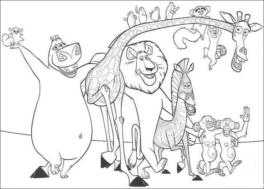madagascar coloring pages copy michael – Free Printables