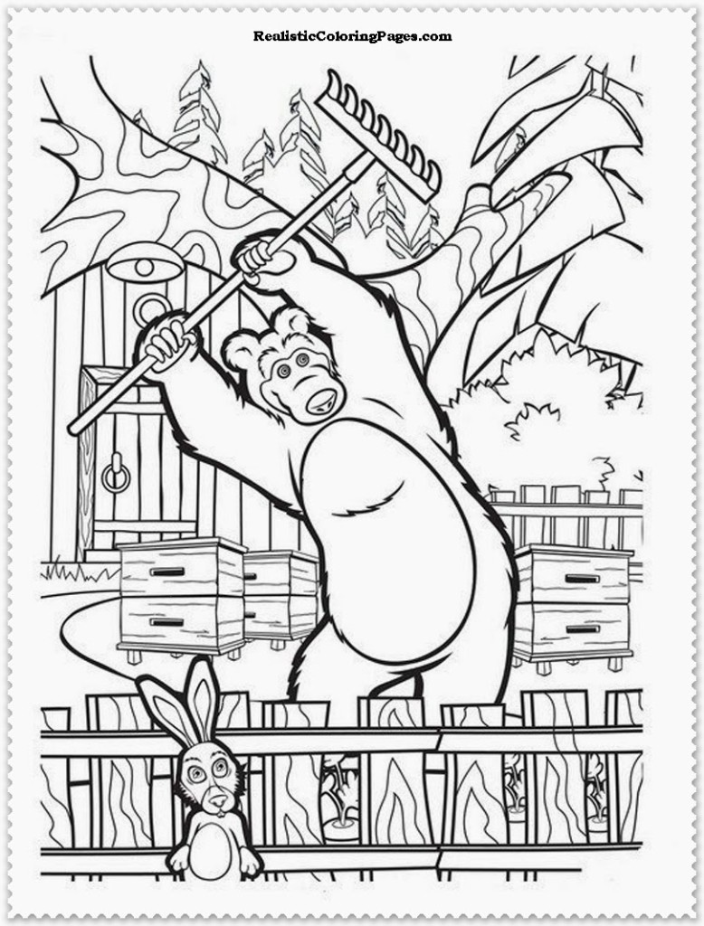 Masha The Bear Coloring Pages Addison