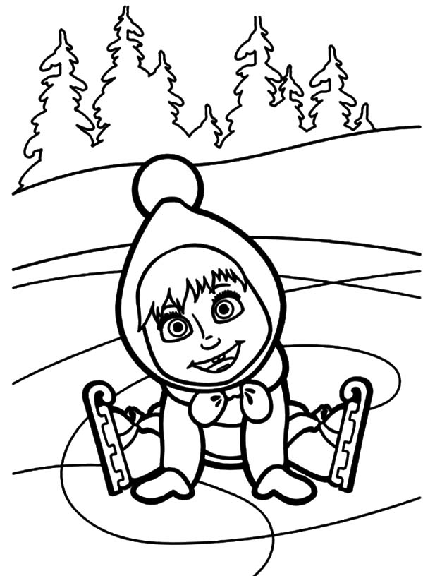 Masha The Bear Coloring Pages By Brooklyn