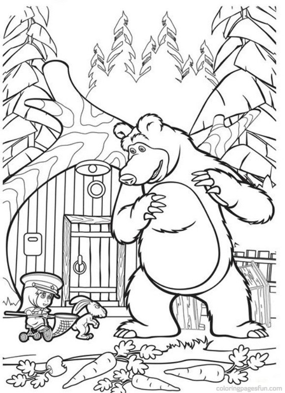 Masha The Bear Coloring Pages Daniel