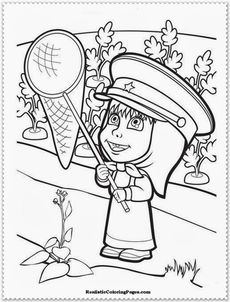Masha The Bear Coloring Pages From Aubrey