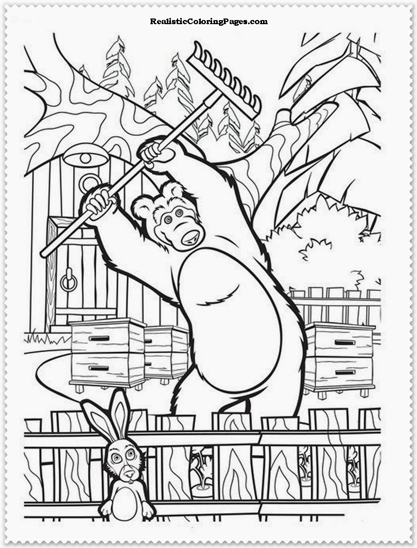 - Masha-&-the-bear Coloring Pages Jack – Free Printables