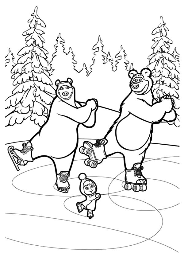 Masha The Bear Coloring Pics
