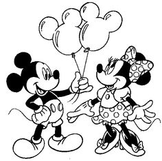 Mickey & Minnie printable page for kids