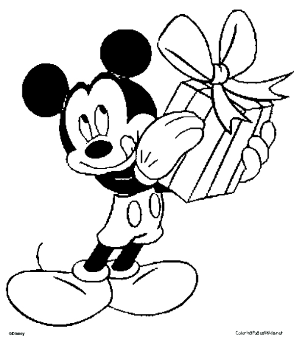 seems Mickey has a gift for you