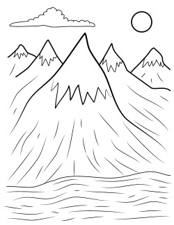 mountains coloring pages copy henry Free Printables