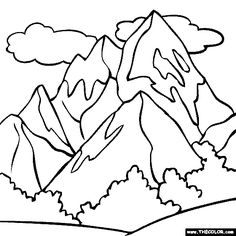 scimitar Mountains coloring page