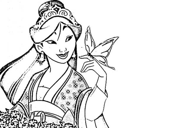 Mulan In The Wedding Apparel Coloring Page