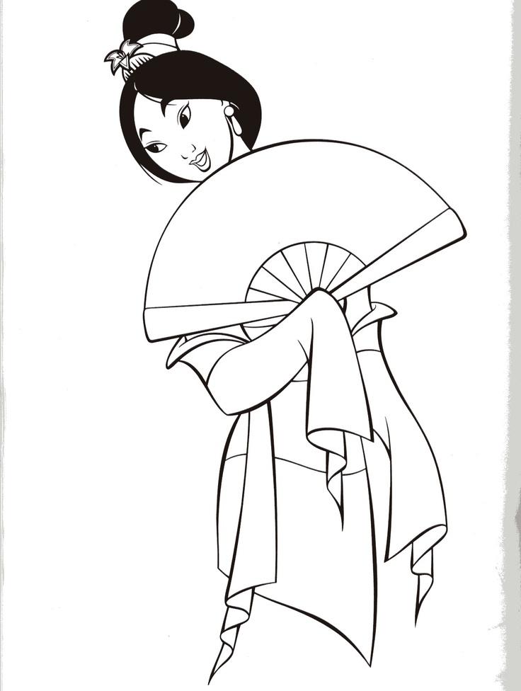 Mulan Coloring Pages Pdf : Mulan coloring sheets free printables
