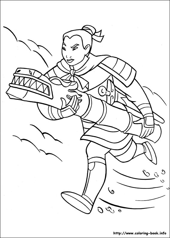Heroic story of a brave girl Mulan 20 Mulan coloring pages | Free ...