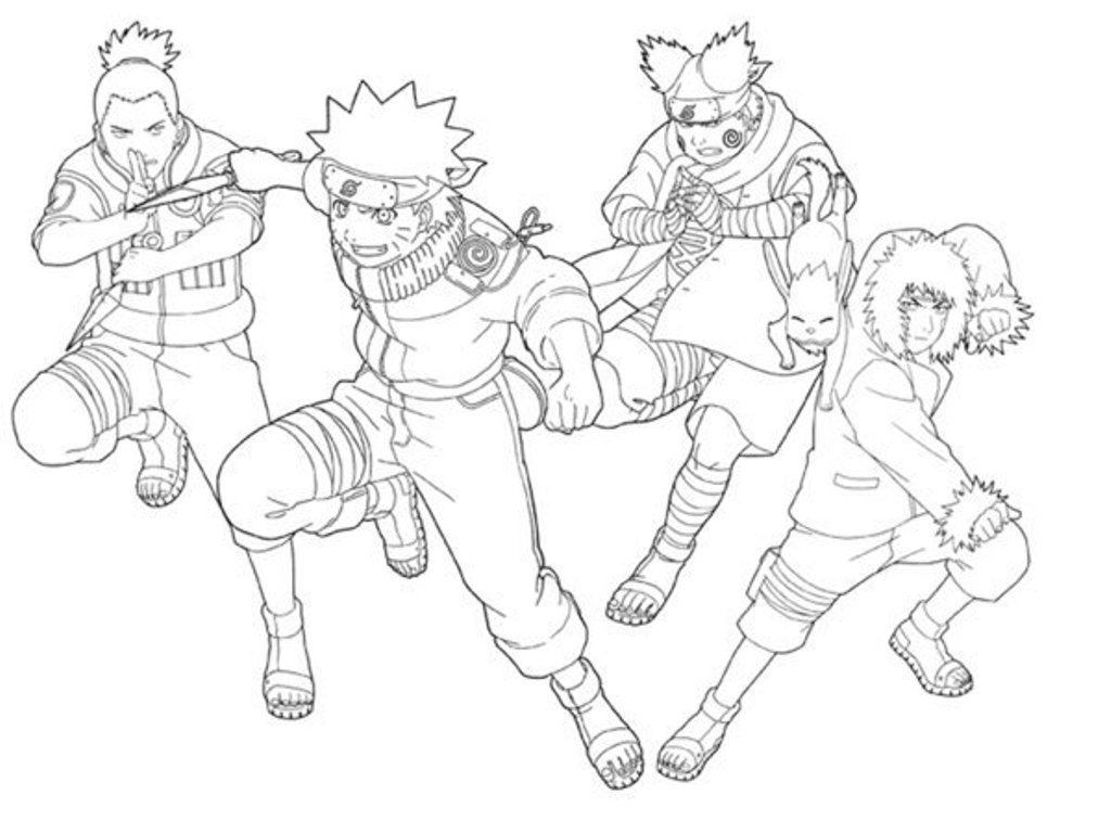 Naruto Coloring Pages From Noah