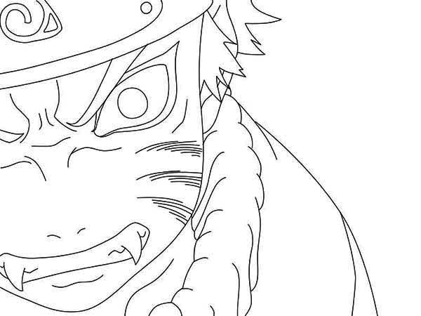 Naruto Coloring Pages Nine Tailed