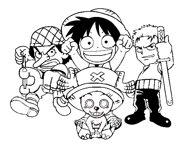 One Piece coloring printable page for kids