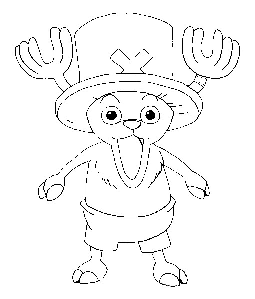 adorable Chopper coloring page