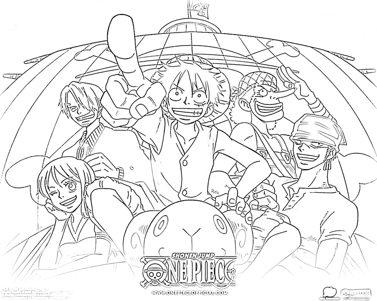 Story of pirate king and his hidden treasure one piece 20 one piece coloring pages free printables - Dessin a colorier one piece ...