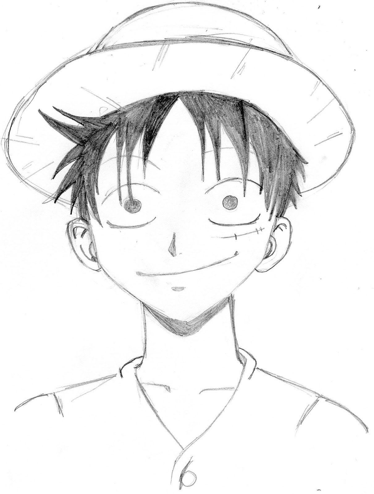 happy Luffy smiling at you