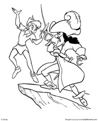 Peter Pan Coloring Pages Captain
